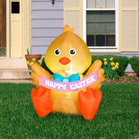 3.5' Airblown Inflatable Outdoor Happy Easter Chick
