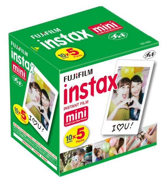 Fujifilm Instax Mini Instant Film (10 Sheets x 5 packs)