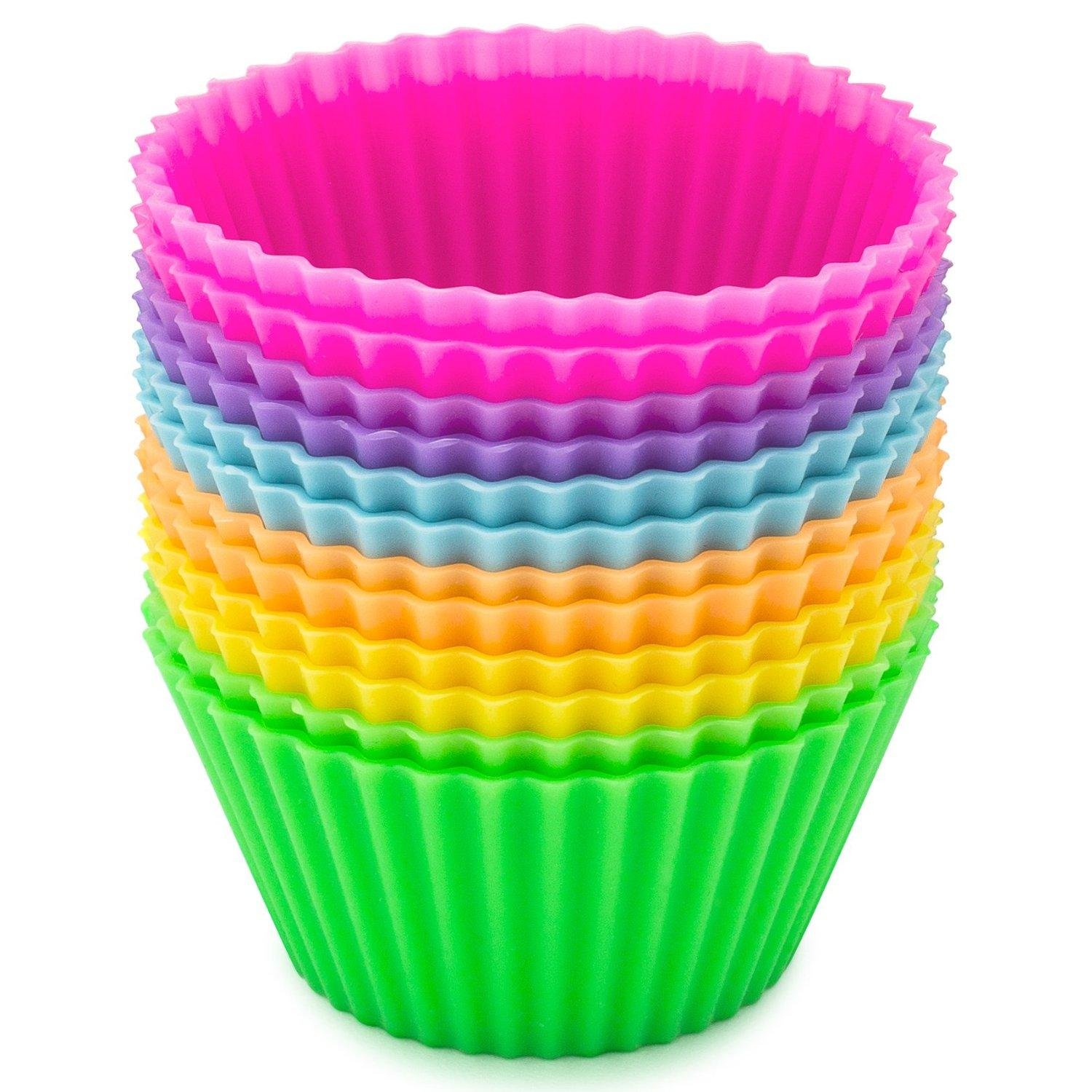 Sunsella Little Gems - Silicone Baking Cups - 12 Pack