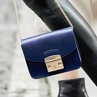 $164.99 Furla Small Leather Crossbody...