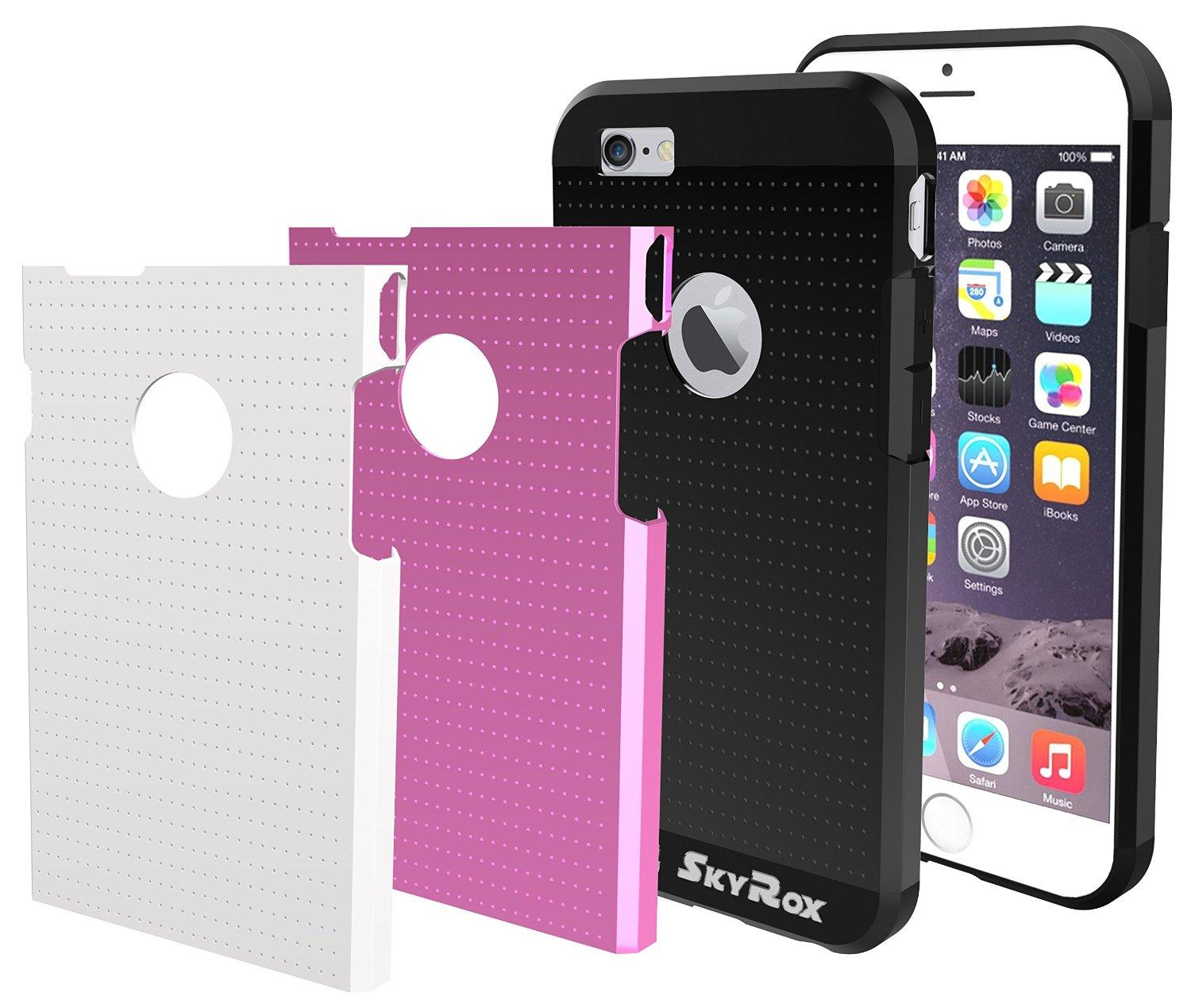 $1.97 SkyRox Anti Slip and Scratch Resistant iPhone 6 Interchangeable Case + FREE Screen Protector