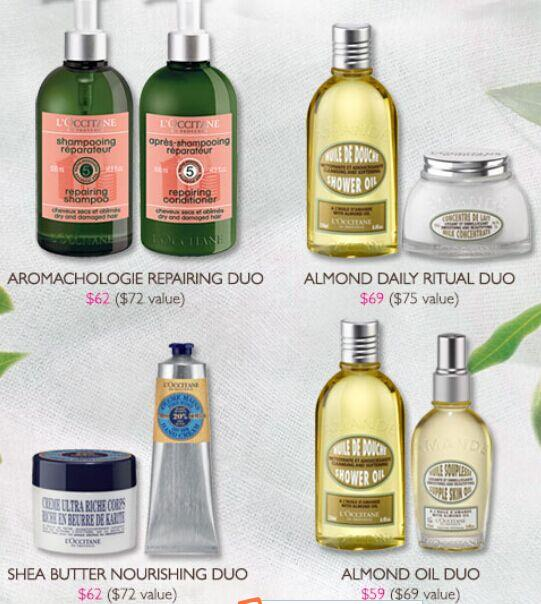 Up to 15% Off Best-selling Duos @ L'Occitane