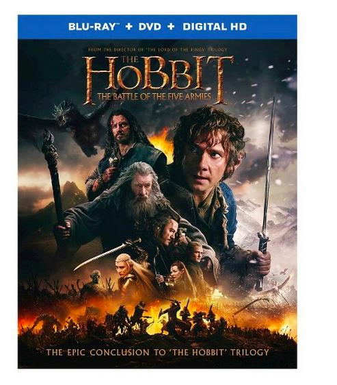 $13 The Hobbit: The Battle of the Five Armies 2 Discs (Blu-ray/DVD)