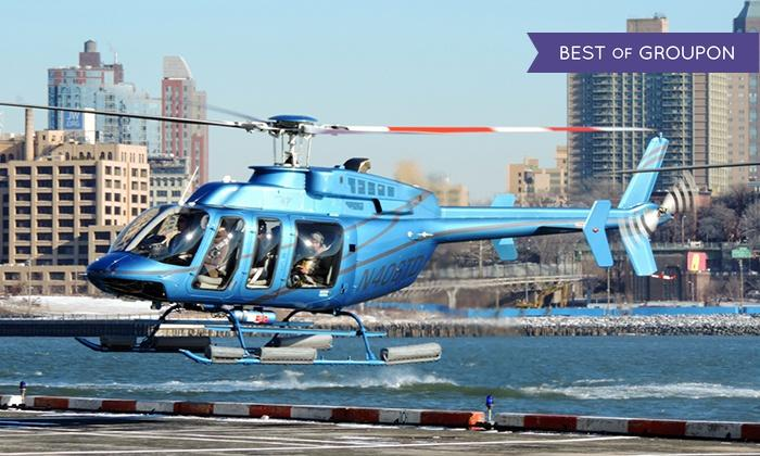 $96.75 Classic Manhattan Helicopter Tour with Photo for One or Two at Manhattan Helicopters