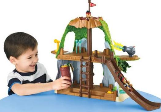 $10.97 Fisher-Price Jake and The Never Land Pirates: Jake's Magical Tiki Hideout Playset