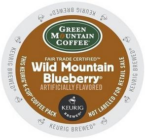 $8.19 Green Mountain Wild Mountain Blueberry, 24-Count,0.33 Oz EA Net Wt. 7.9 Oz.