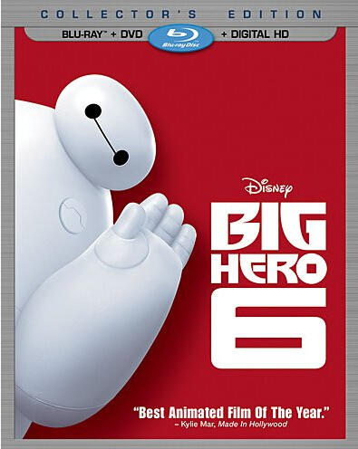 $18 Big Hero 6 (Blu-ray + DVD + Digital HD)