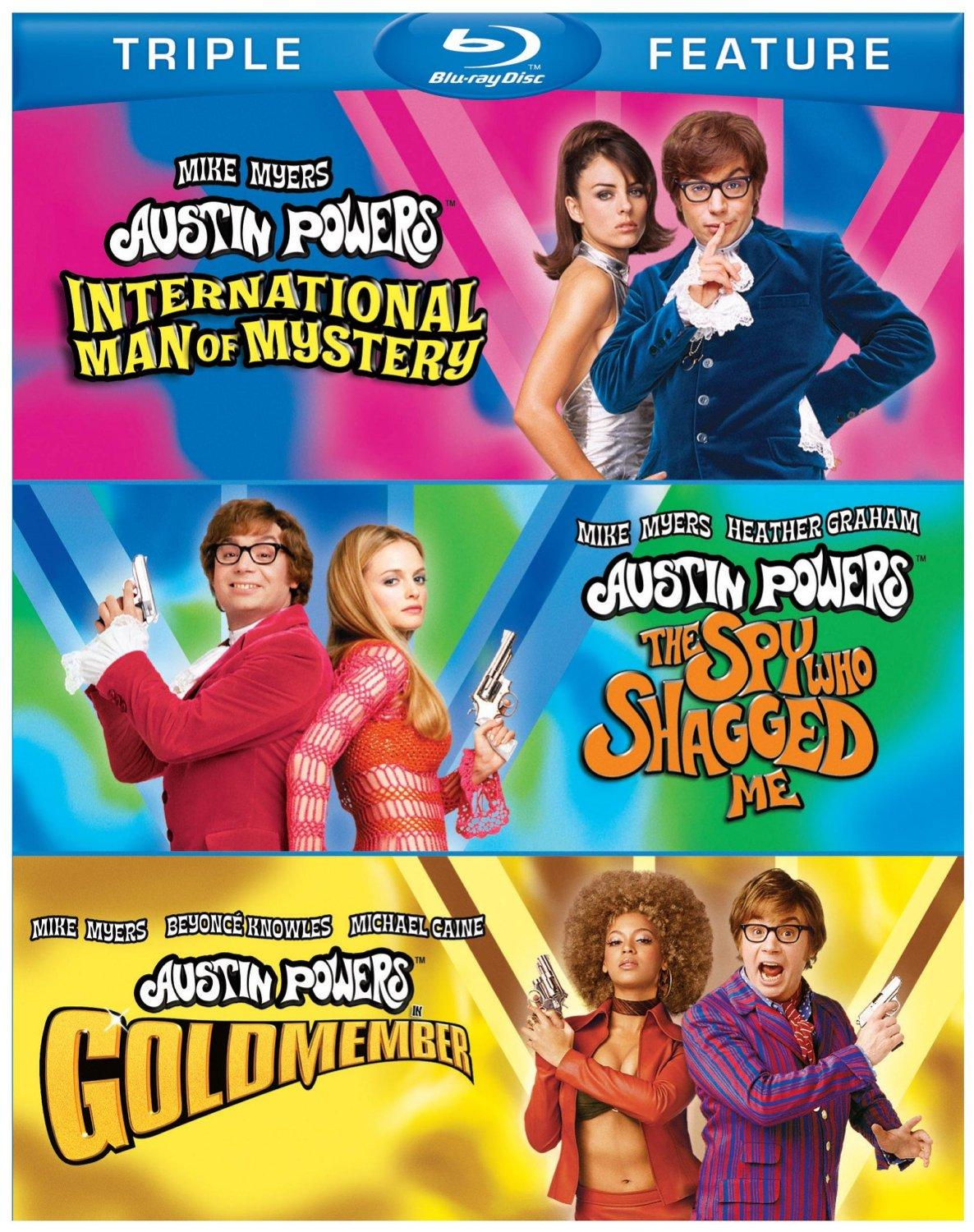 $7.99 Austin Powers Triple Feature (International Man of Mystery / The Spy Who Shagged Me / Goldmember) [Blu-ray]