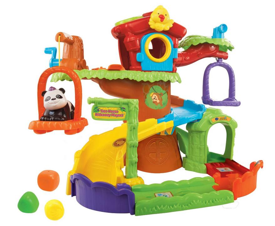 $10.97 Go! Go! Smart Animals Tree House Hideaway Playset