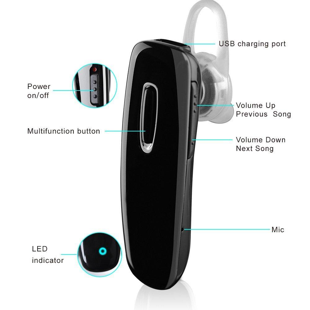 Mpow® Cobble Bluetooth 4.0 Wireless Headset Headphone Earpiece with High Connection Quality and Intelligent signal Performance