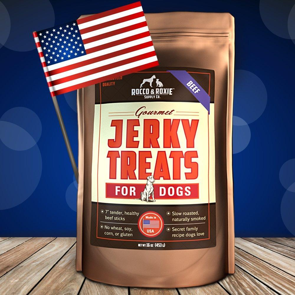 All American Gourmet Jerky Treats For Dogs - Premium Slow Smoked Beef