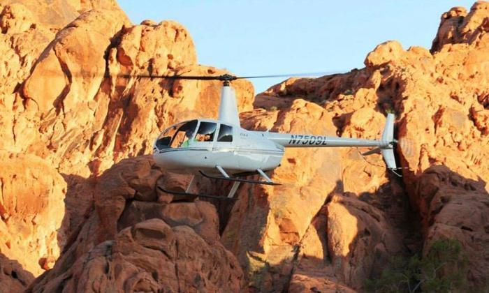 $216.75 VIP helicopter tour of the strip and Red Rock Canyon for up to three people