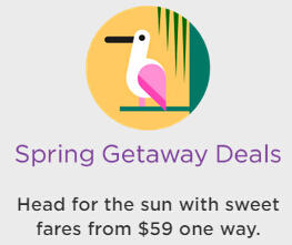 From $59 Nationwide Single Way fares  @ Virgin America