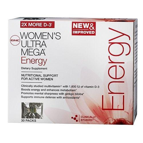 GNC Women's Ultra Mega Energy Vitapak 30-Pack