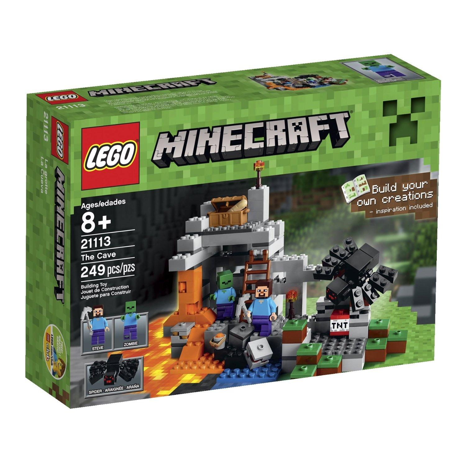 $15.99 LEGO Minecraft The Cave 21113 Playset