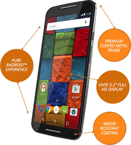 $140 Off Moto X (2014) 16GB No-Contract Unlocked Smartphone
