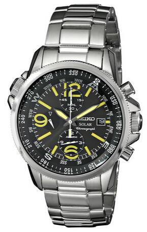 "$165 Seiko Men's SSC093 ""Adventure-Solar Classic"" Stainless Steel Watch"