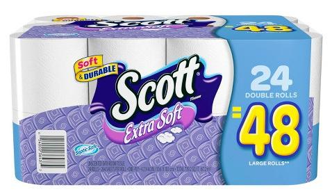 $43.94 144 Double Rolls Scott Extra Soft Toilet Paper
