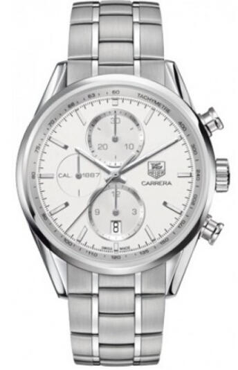 Tag Heuer Carrera Automatic Silver Dial Steel Mens Watch CAR2111.BA0724
