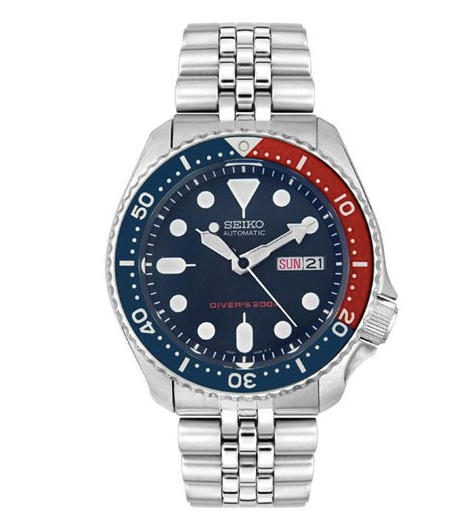$143.99 Seiko SKX009K2 Men's Automatic Diver's Stainless Steel Blue Dial Watch, SKX009K2
