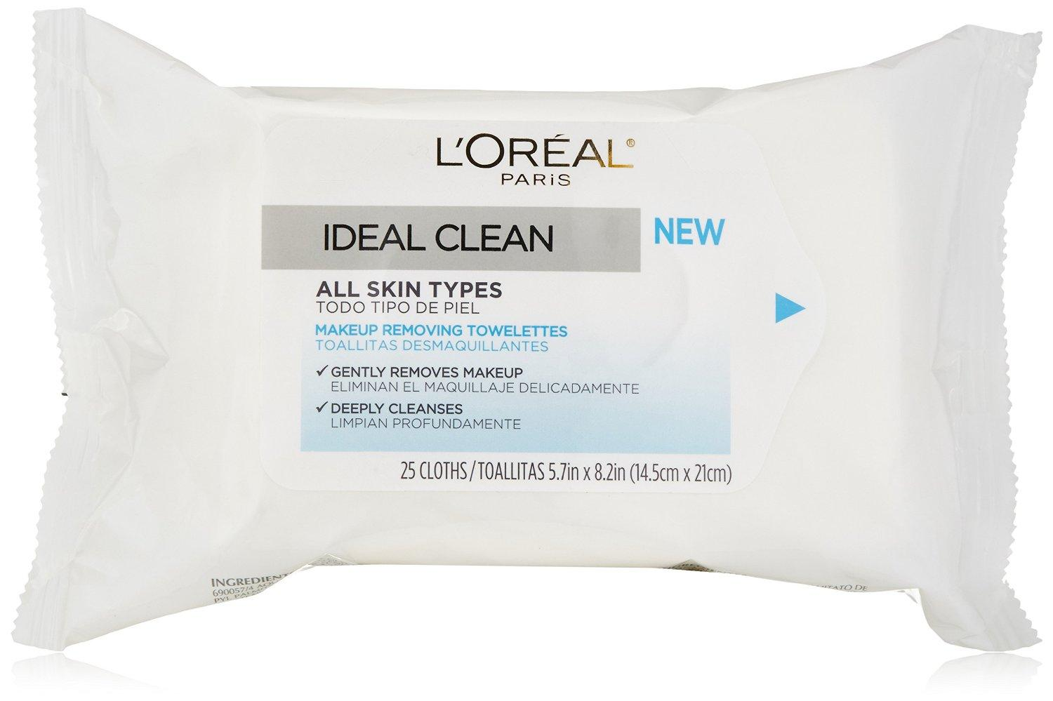 $3.49 L'Oreal Ideal Clean Towelettes, 25 Count