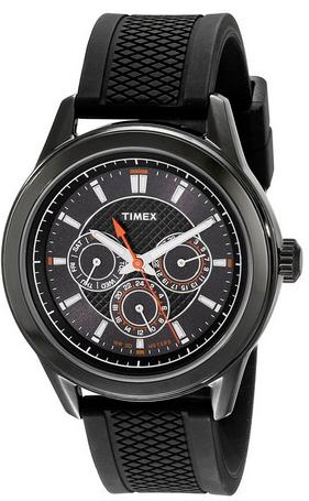 $15.96 Timex Men's T2P179KW Ameritus Multi-Function Black Silicone Strap Watch