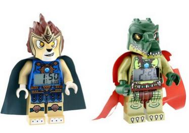 $30.24 Lego Kid's Amazon Exclusive 9009525 Legends of Chima Laval and Cragger 2-Pack Minifigure Alarm Clocks
