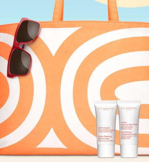 Free Tote and Summer Body Gifts with $75 purchase @ Clarins
