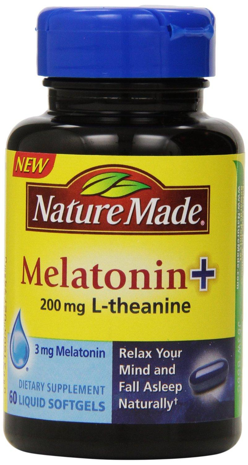 $4.41 Nature Made Melatonin + with 200 Mg L-theanine, 60 Count