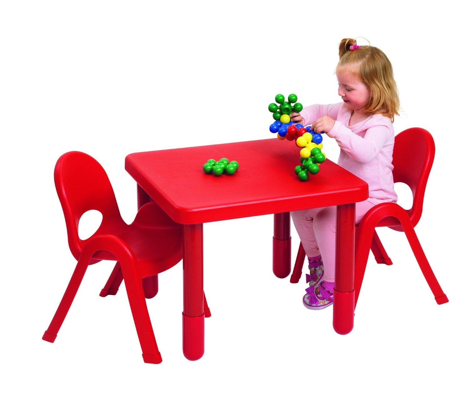 $38.36 Angeles MyValue Candy Apple Red Table and Chair (Set of 2)