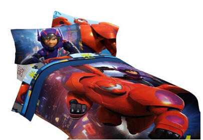 $29.88 Disney Big Hero 6 72 by 86-Inch Microfiber Comforter, Twin/Full