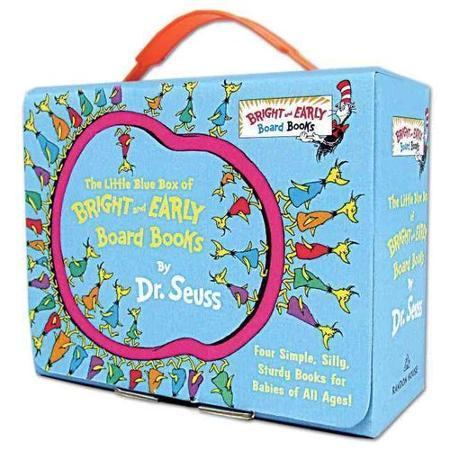 $8.89 The Little Blue Box of Bright and Early Board Books by Dr. Seuss儿童图书