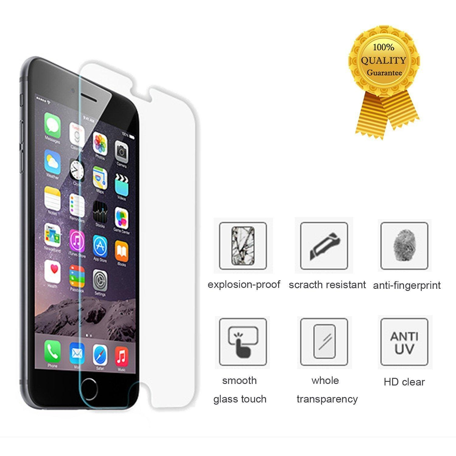 $1.89 MOTTO Tempered Glass Protector for iPhone 6, 6 Plus