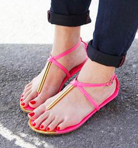 From $11.99 Select T-Strap Sandals @ 6PM.com