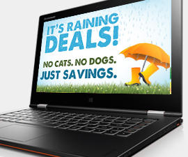 Up to 80% Off Select Laptops, Desktops, Tablets, Accessories @ Lenovo US