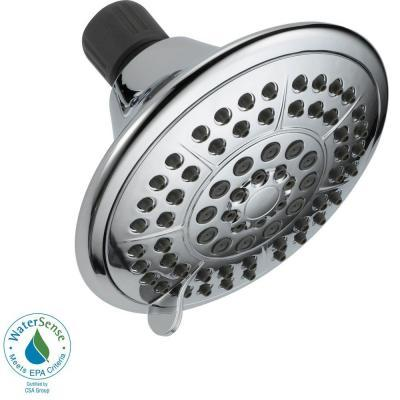 $9.88 5-Spray 5 in. Showerhead in Chrome with Pause