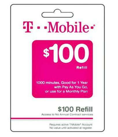 $72.26 $100 T-Mobile Refill Card Credit