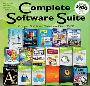 Free PC Treasures Complete Software Suite on DVD (50884)