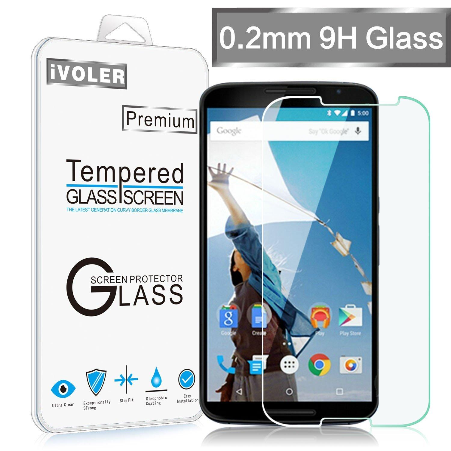 $0.05 iVoler Tempered Glass Screen Protector for Google Motorola Nexus 6