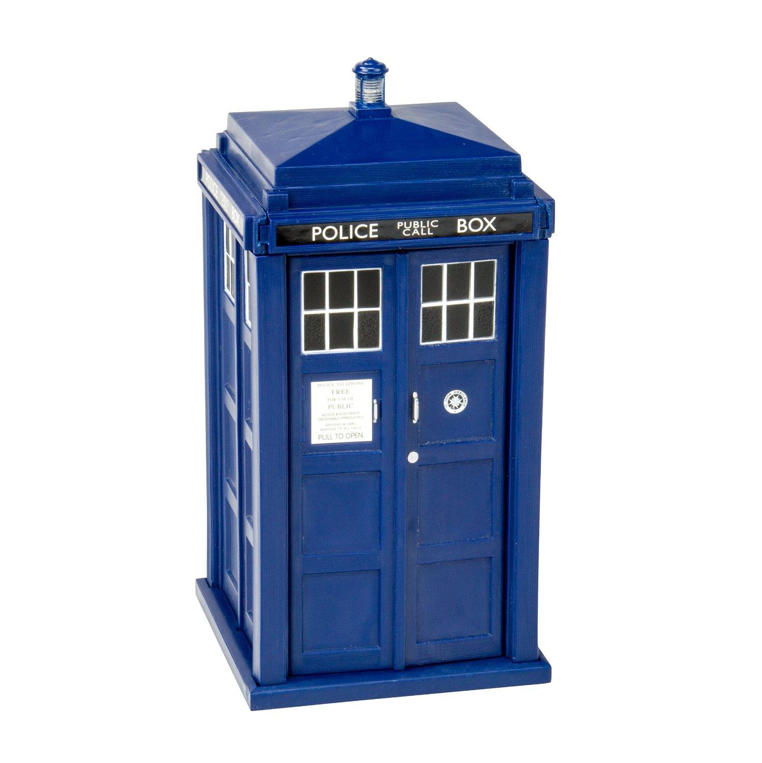 $24.95 Doctor Who Tardis Money Bank - Doors Open and Close - Lights and Sounds, Bigger on the inside