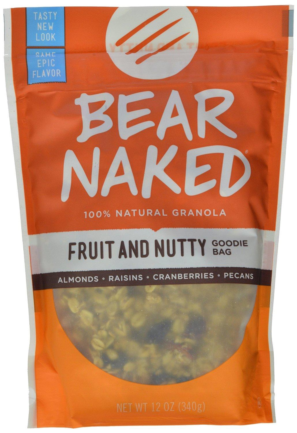 $13.2 Bear Naked Fruit & Nutty Goodie Bag Granola, 12-Ounce Pouches (Pack of 6)