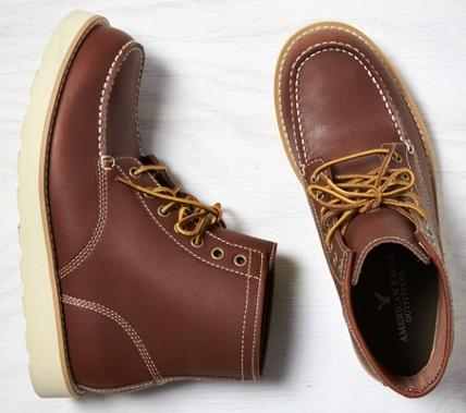 $42.5 American Eagle Outfitters Men's Leather Lace-Up Boots