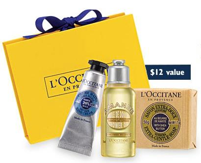 Free Little Yellow Box with Any Purchase of $40 @ L'Occitane