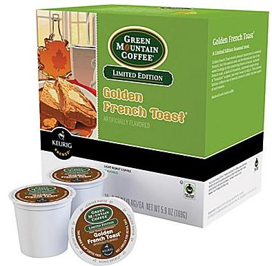 $10.49 Keurig K-Cup Green Mountain Golden French Toast Coffee, 24/Pack