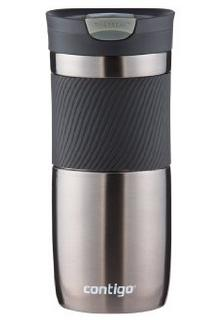 Contigo SnapSeal Vacuum-Insulated Stainless Steel Travel Mug, 16-Ounce