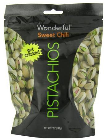 $4.73 + Free Shipping Wonderful Pistachios, Sweet Chili, 7 Ounce
