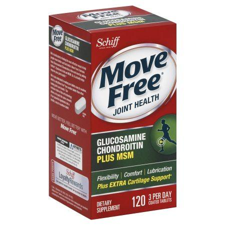 Schiff Move Free Glucosamine Chondroitin MSM and Hyaluronic Acid Joint Supplement, 120 Ct