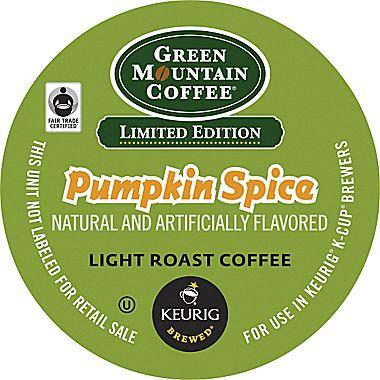$5.69 Green Mountain Coffee Pumpkin Spice 18-Pack for Keurig K-Cup Brewers