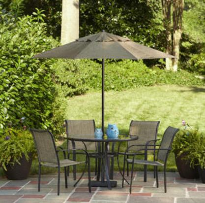 Bartlett Round Dining Table + 4 Chairs @ Kmart.com