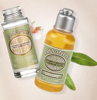 Free Almond supple skin oil and Shower oil  with Any $40 Purchase @ L'Occitane